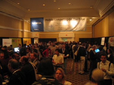 Vendor reception at Etech.